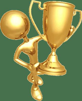 troféu representando a boa reputação da arantescar